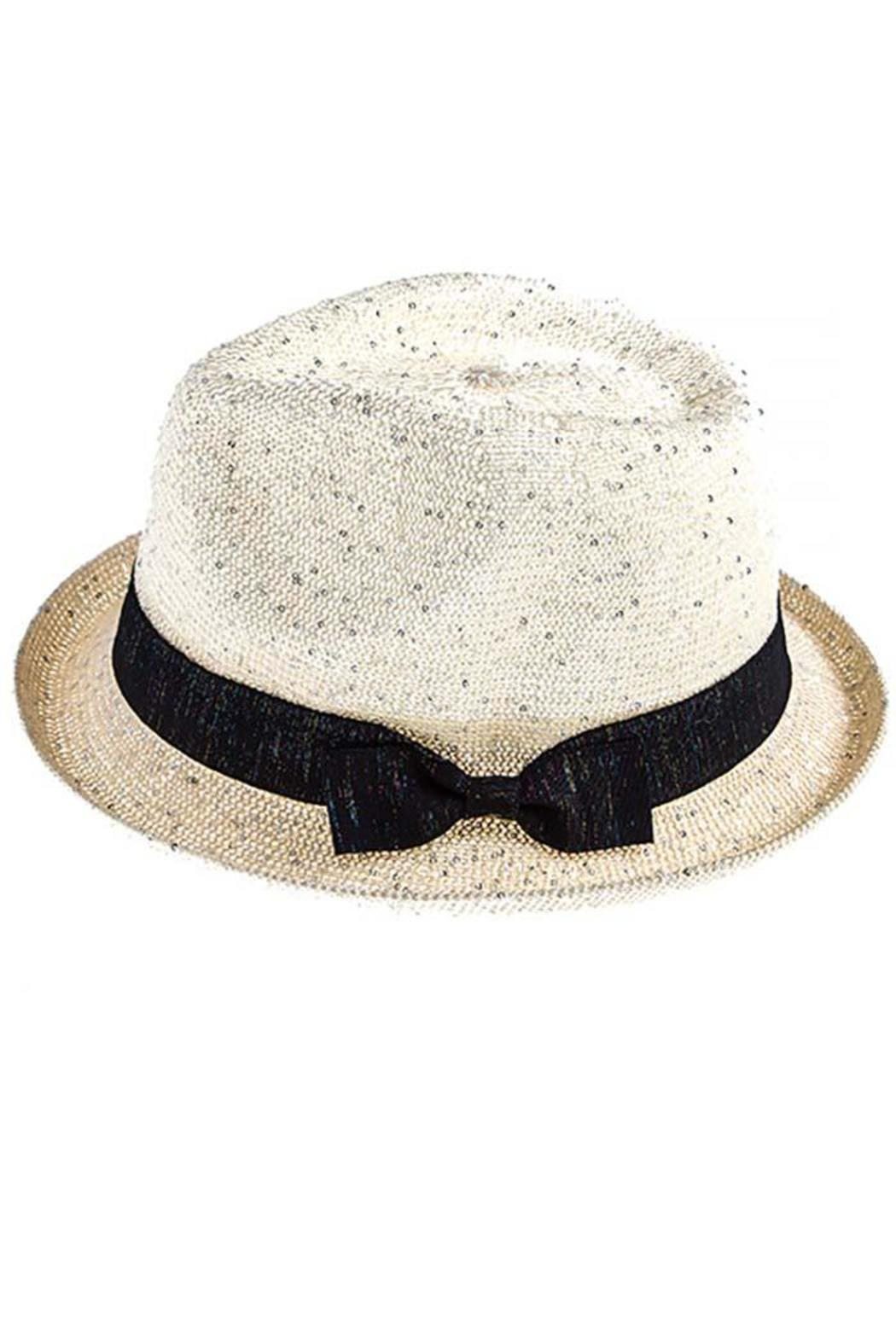 The Hatter Company Sparkly Woven Fedora - Side Cropped Image