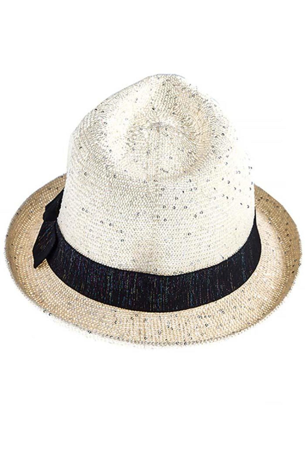The Hatter Company Sparkly Woven Fedora - Front Full Image
