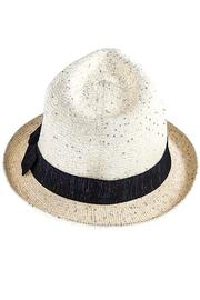 The Hatter Company Sparkly Woven Fedora - Front full body