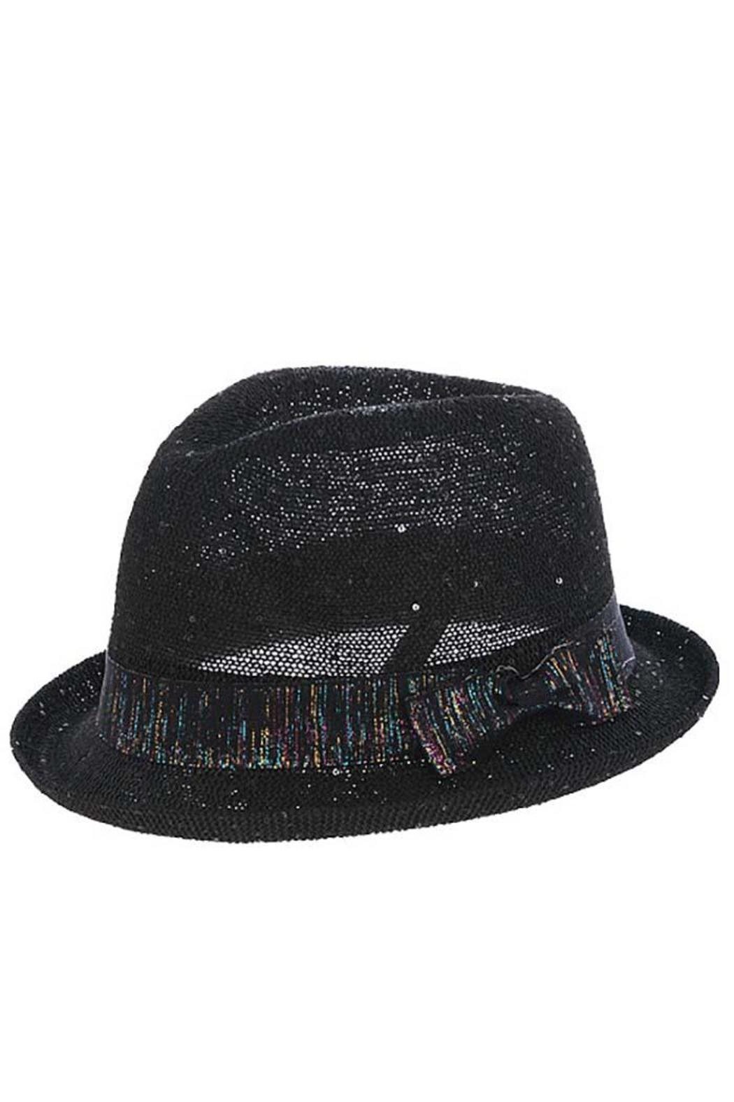 The Hatter Company Sparkly Woven Fedora - Front Cropped Image