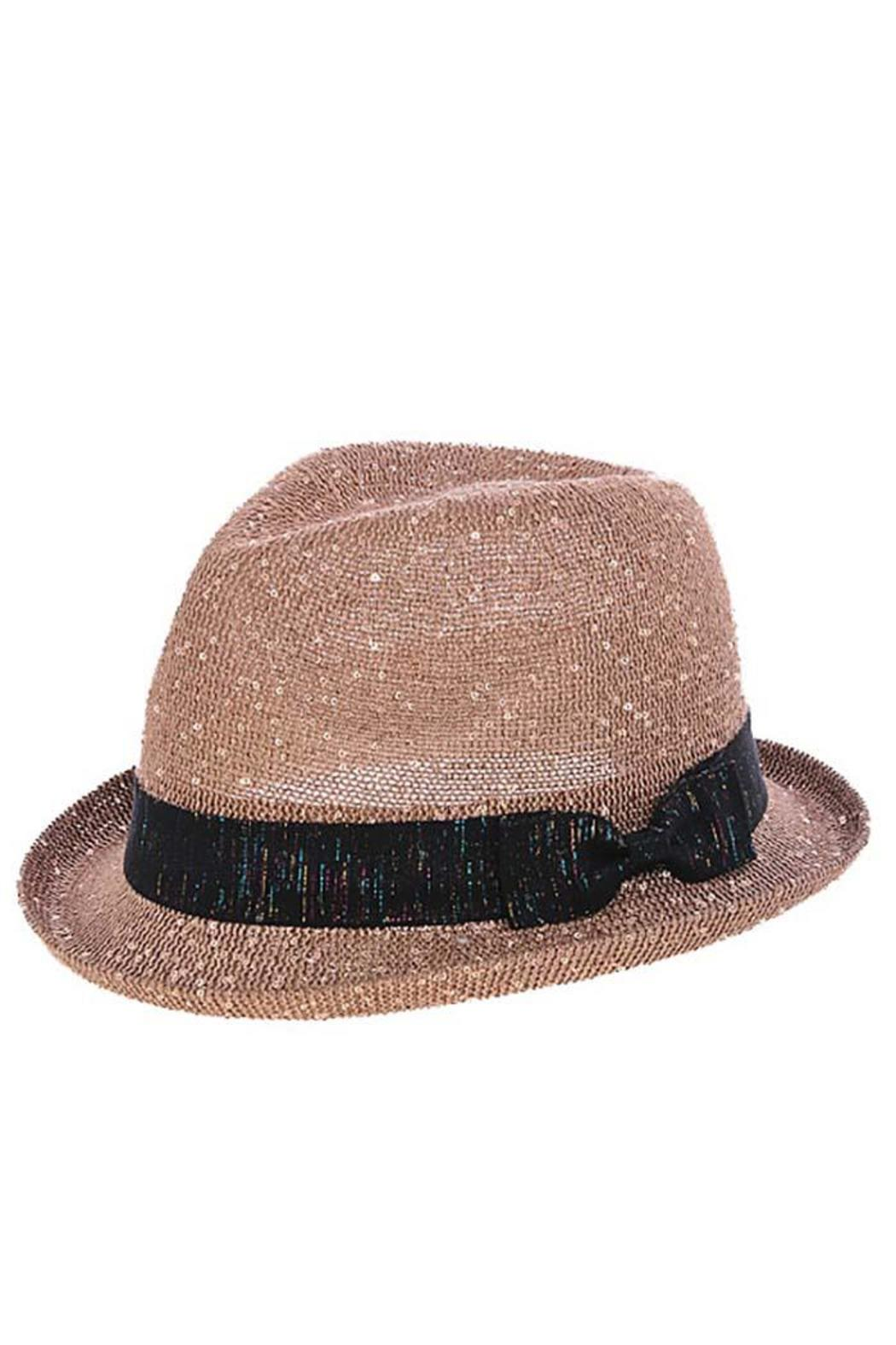 The Hatter Company Sparkly Woven Fedora - Main Image