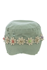 The Hatter Company Striped Flower Military-Hat - Front cropped