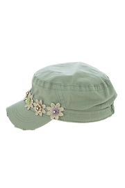 The Hatter Company Striped Flower Military-Hat - Other