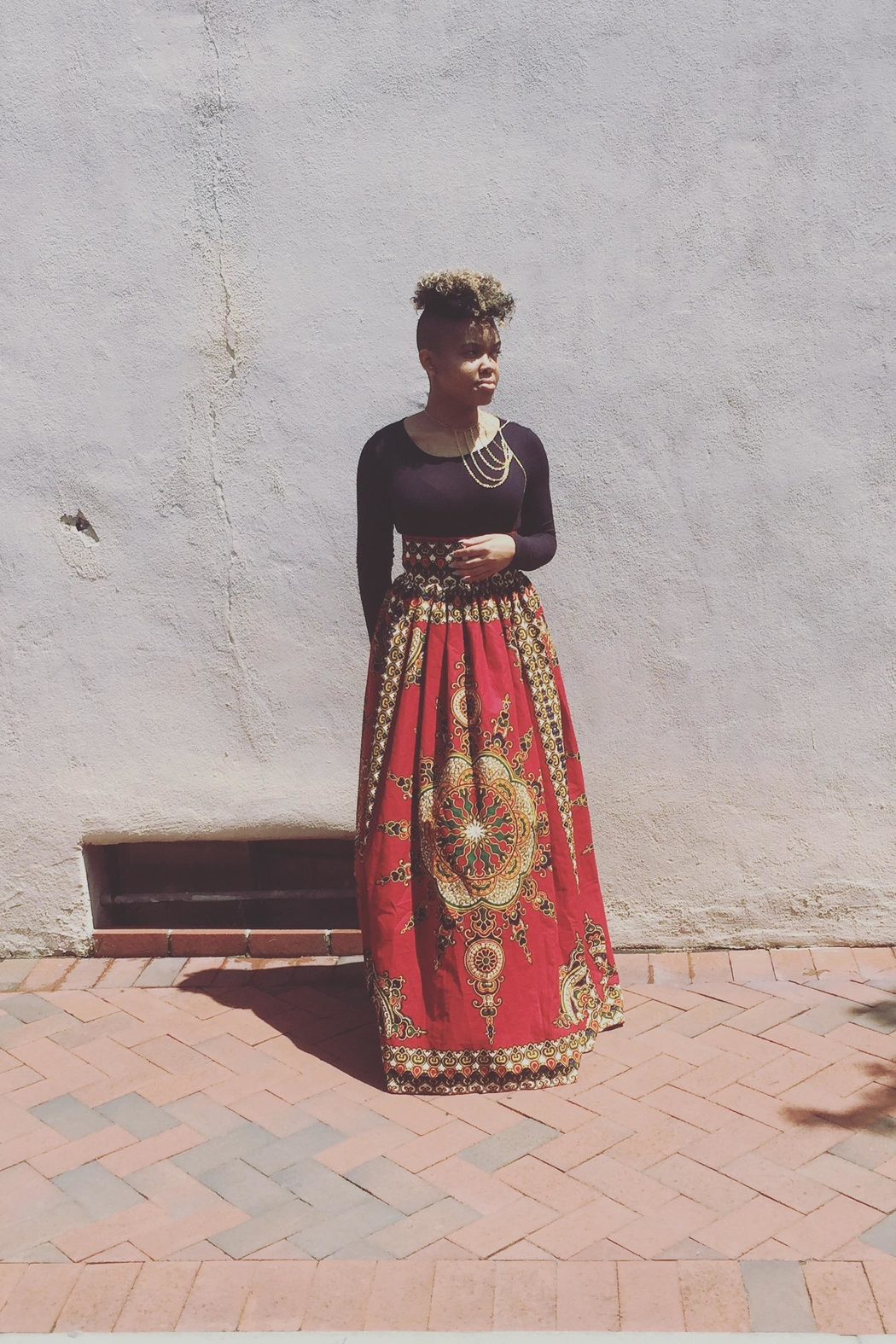 The House of Flair  Dashiki Skirt - Front Cropped Image