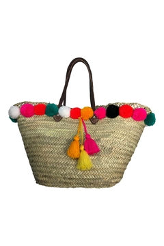 The House of Perna Tassel Pom Bag - Alternate List Image