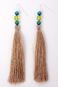 The House of Perna Beaded Tassel Earrings - Alternate List Image
