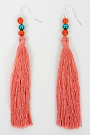 The House of Perna Beaded Tassel Earrings - Front cropped