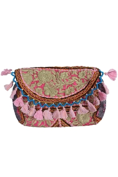 The House of Perna Embroidered Tassel Crossbody - Product List Image