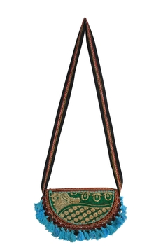 The House of Perna Embroidered Tassel Crossbody - Alternate List Image