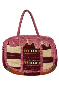The House of Perna Leather Kilim Bag - Product List Image