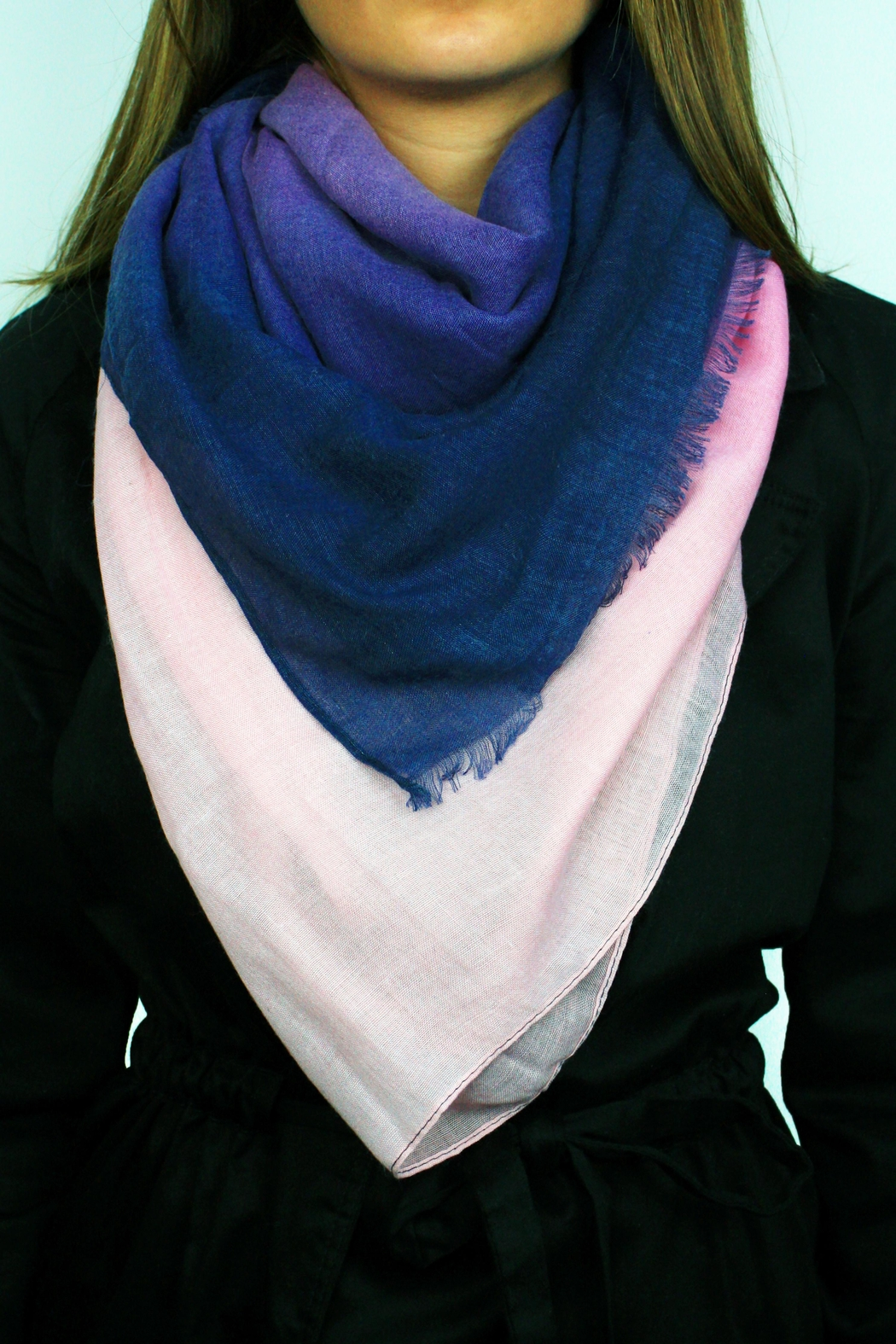 The House of Perna Ombre Scarf - Front Cropped Image