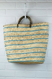 The House of Perna Striped Straw Tote - Product Mini Image