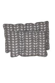 The Humane Society of the United States Small Elephant-Print-Pet Bed - Front cropped