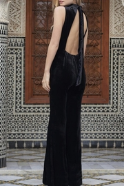 The JetSet Diaries Velvet Black Jumpsuit - Front full body