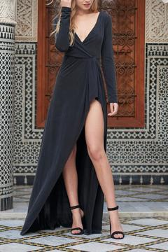 The JetSet Diaries Black Open Back Maxi - Product List Image