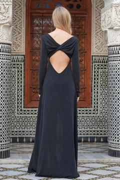 The JetSet Diaries Black Open Back Maxi - Alternate List Image
