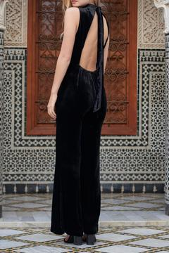 The JetSet Diaries Black Velvet Jumpsuit - Alternate List Image