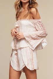The JetSet Diaries Bell Sleeve Off Shoulder Top - Product Mini Image