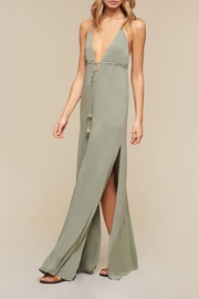 The JetSet Diaries Plunge and Slit Maxi - Front cropped