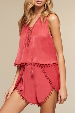 The JetSet Diaries Red Leone Romper - Product List Image
