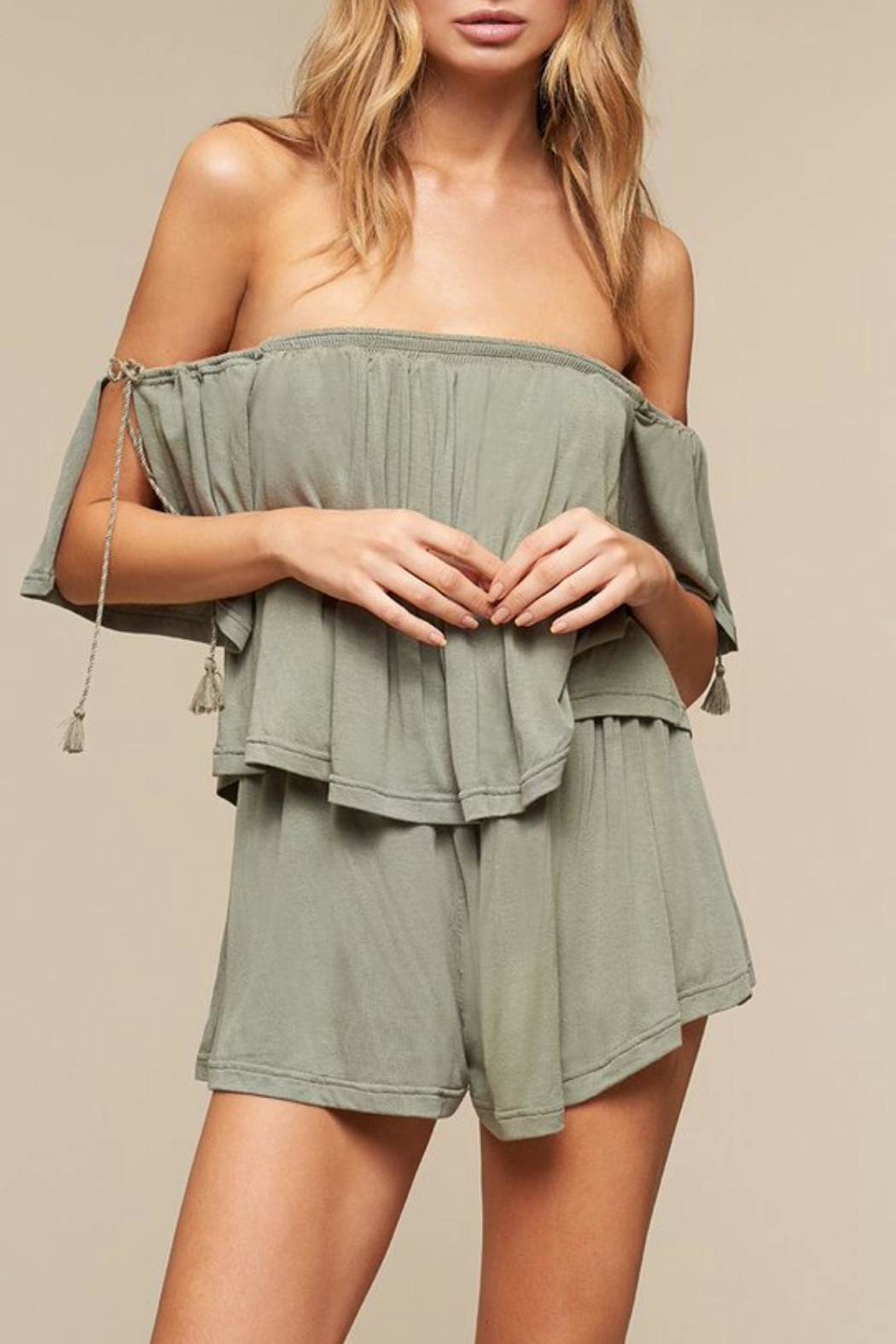 The JetSet Diaries Sage Highland Romper - Main Image