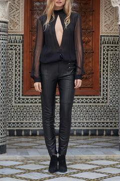 The JetSet Diaries Sheer Black Blouse - Product List Image