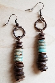 The Jewelry Junkie Aqua Terra Wood Earrings - Product Mini Image