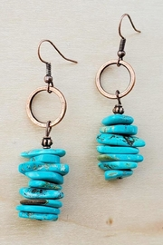 The Jewelry Junkie Blue Turquoise Stacked Earrings - Product Mini Image
