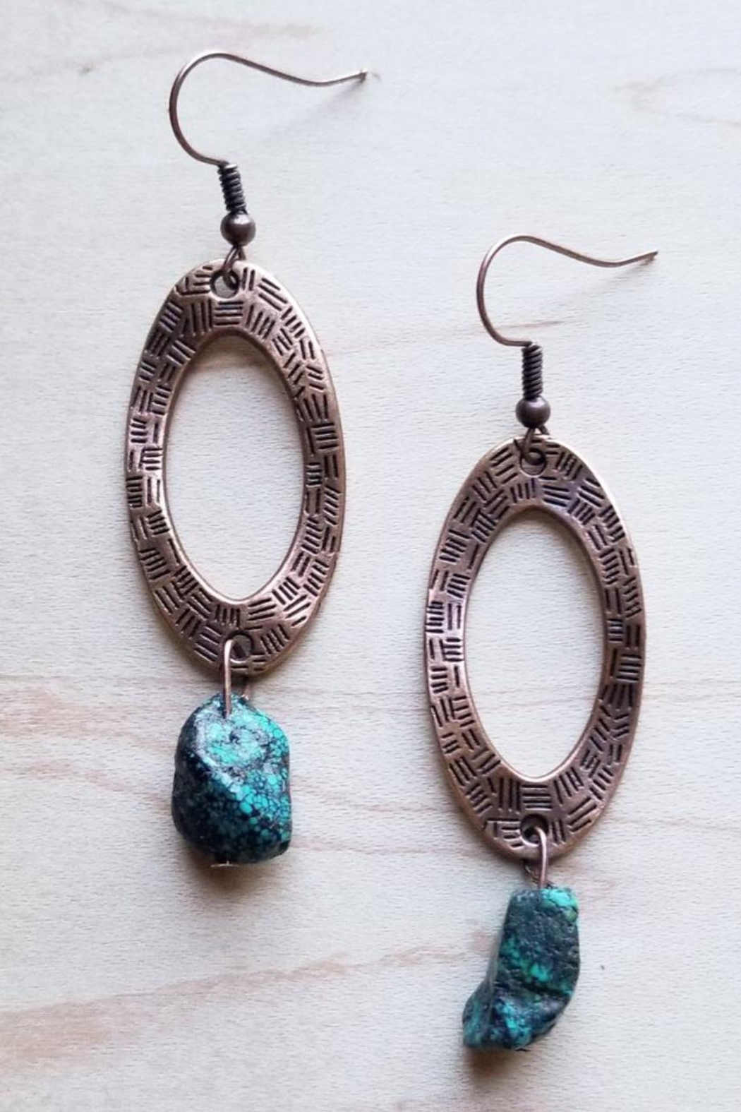 The Jewelry Junkie Hammered Copper Earring - Main Image