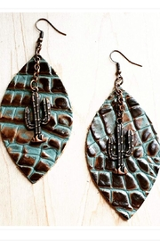 The Jewelry Junkie Leather Oval Earrings - Product Mini Image