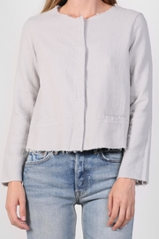 The Lady & The Sailor Cropped Oatmeal Cardi - Front cropped
