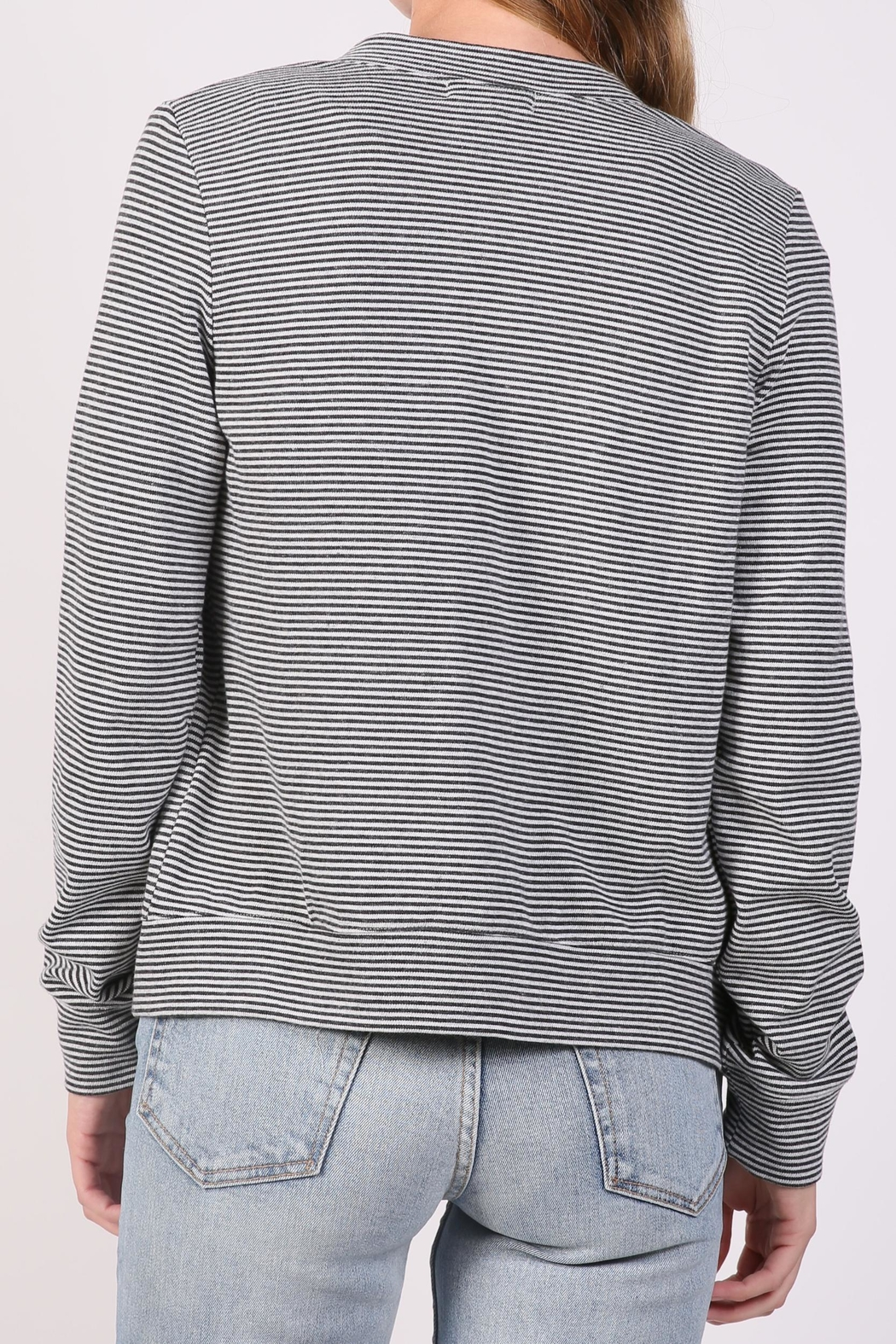 The Lady & The Sailor Striped Cardigan Sweater - Side Cropped Image