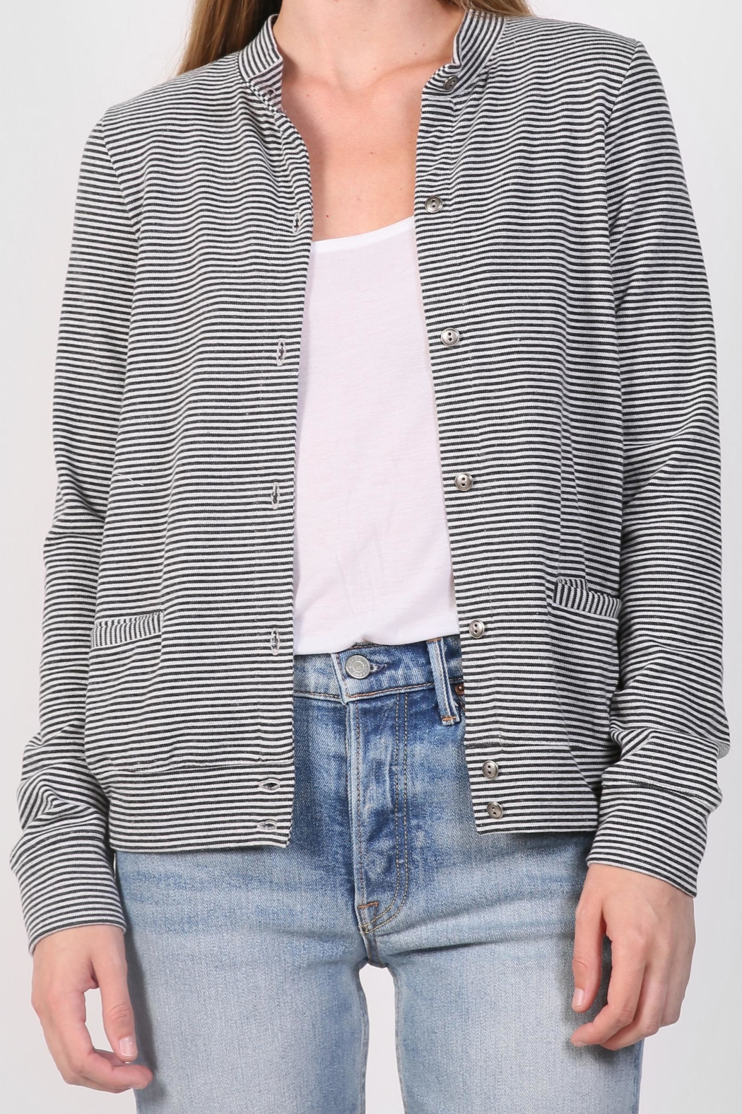 The Lady & The Sailor Striped Cardigan Sweater - Main Image