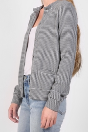 The Lady & The Sailor Striped Cardigan Sweater - Front full body