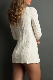 The Lemon Collection Boyfriend Cableknit Sweater - Front full body