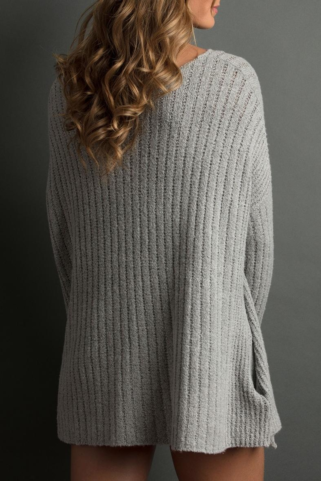 The Lemon Collection Cozy Ribbed Sweater - Front Full Image