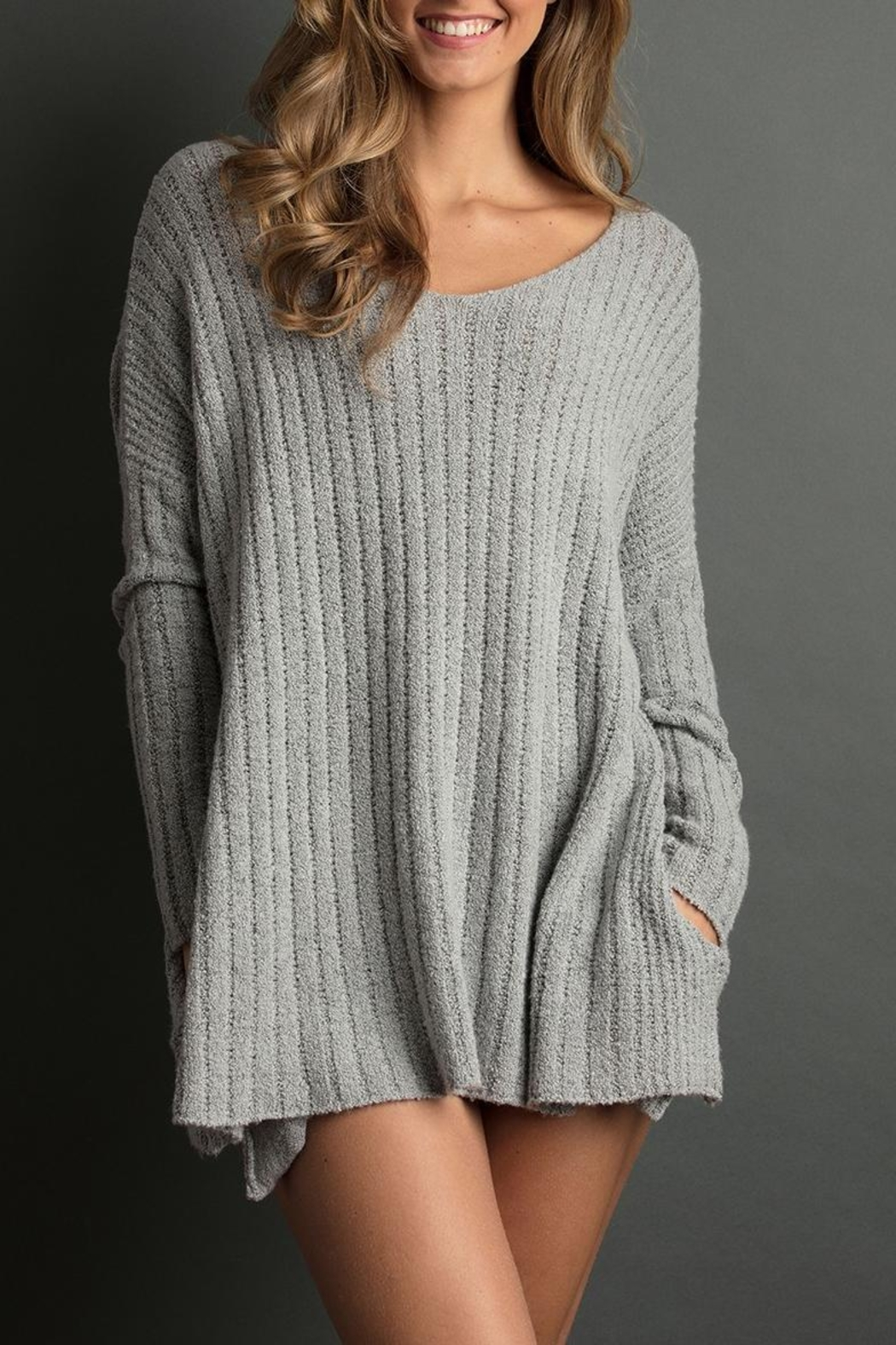 The Lemon Collection Cozy Ribbed Sweater - Main Image
