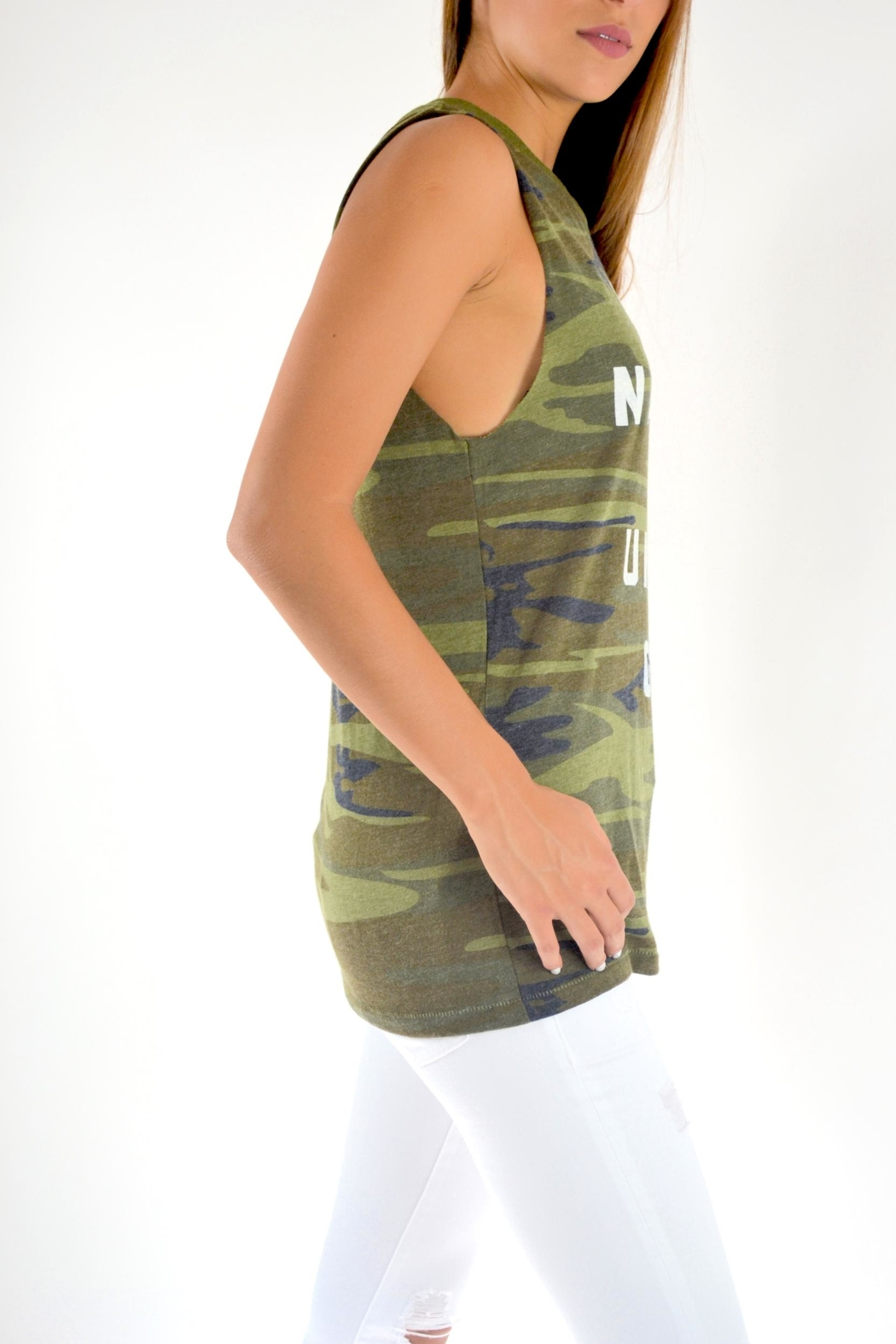THE LIGHT BLONDE Camo Tank - Front Full Image