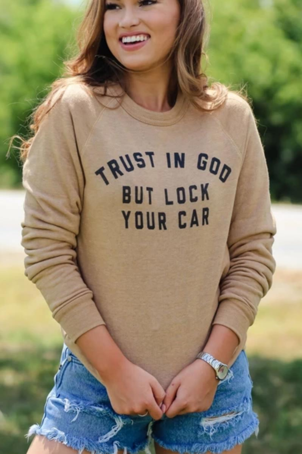 THE LIGHT BLONDE Trust-In-God Sweater - Main Image