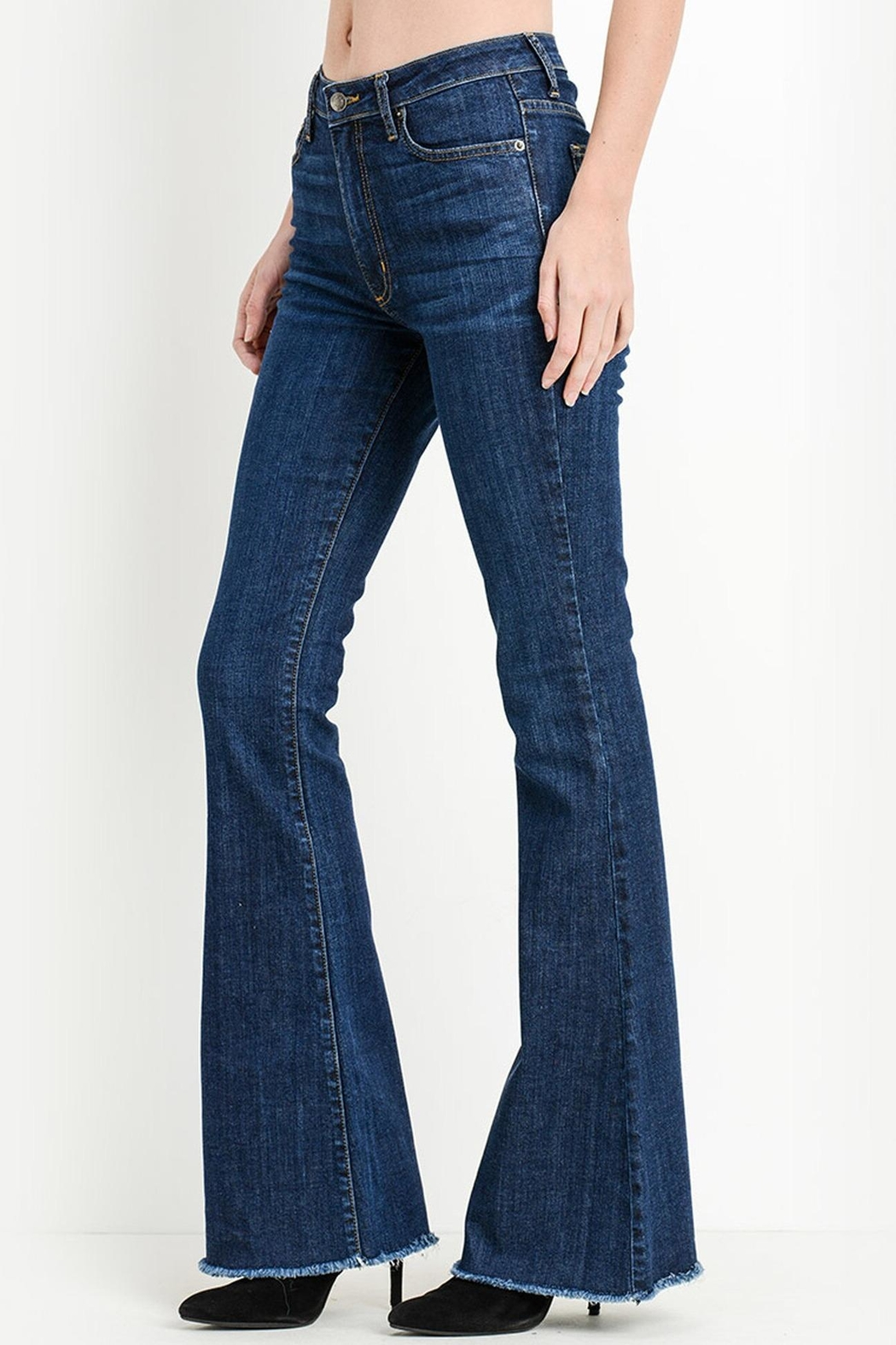 The Lovet Shop Bella Flare Jeans - Main Image