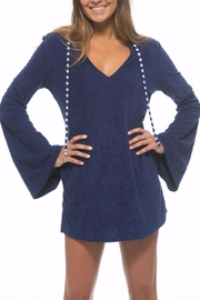 The Macbeth Collection Terry Hooded Tunic - Front full body