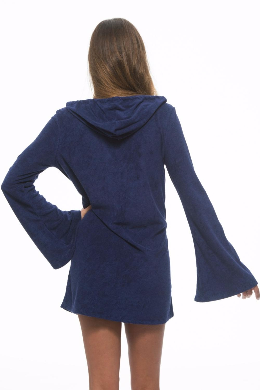 The Macbeth Collection Terry Hooded Tunic - Side Cropped Image