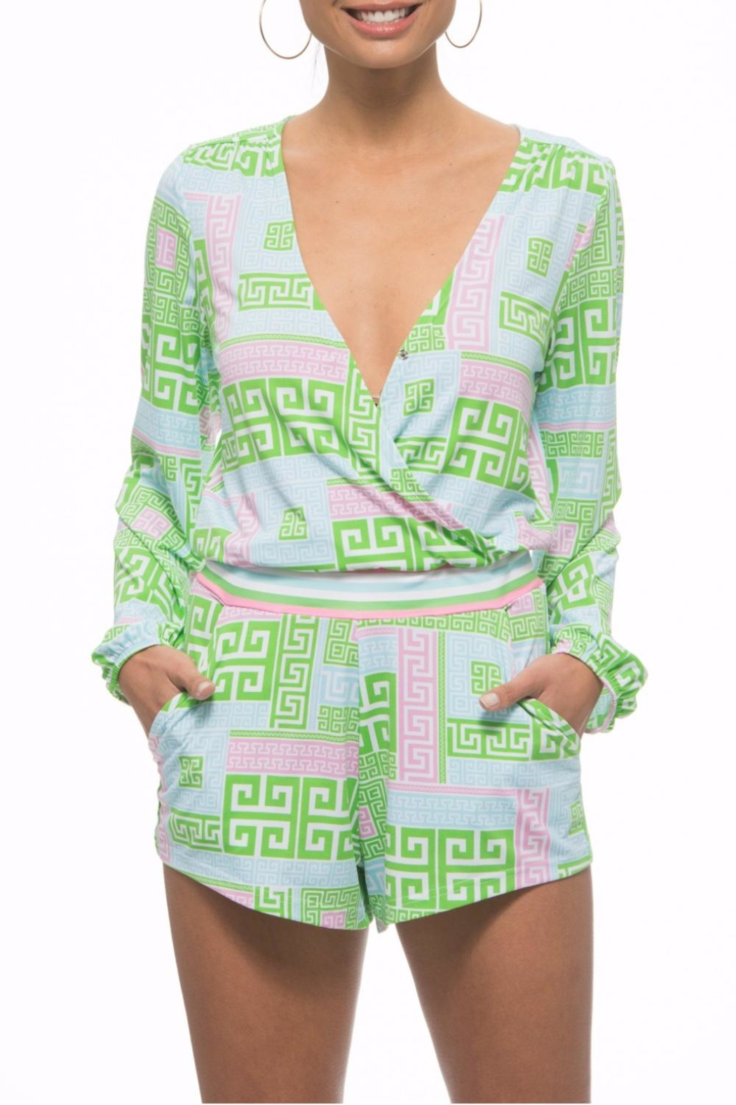 The Macbeth Collection Wrap Romper - Main Image
