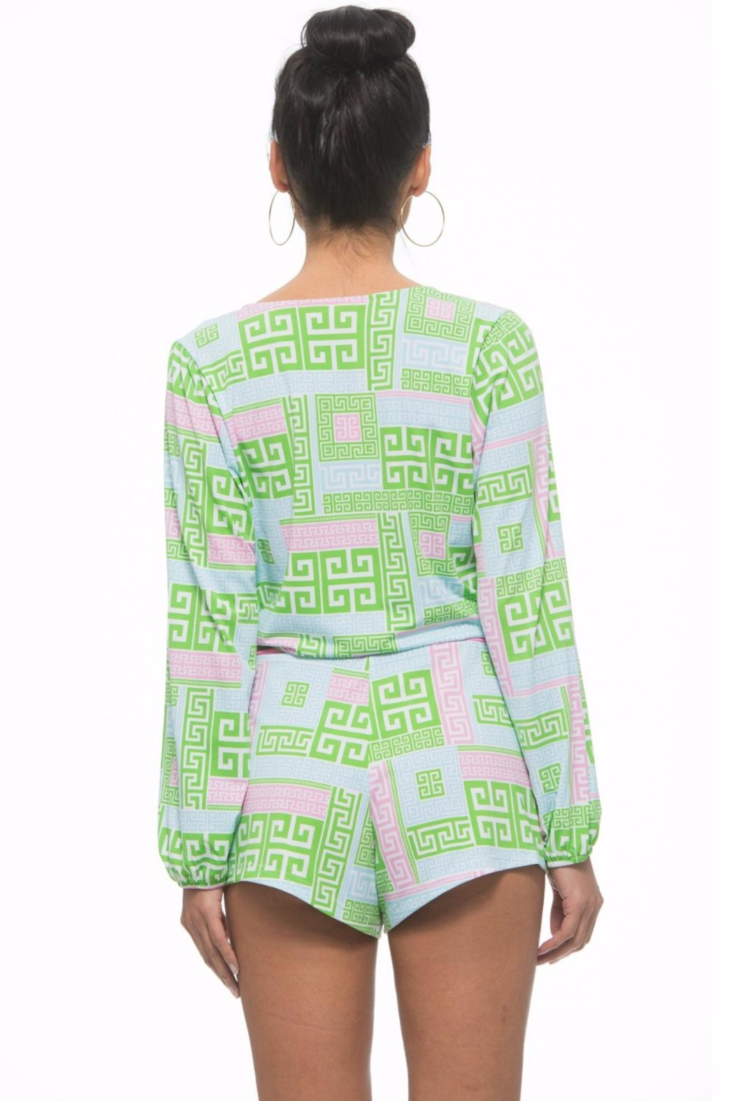 The Macbeth Collection Wrap Romper - Front Full Image