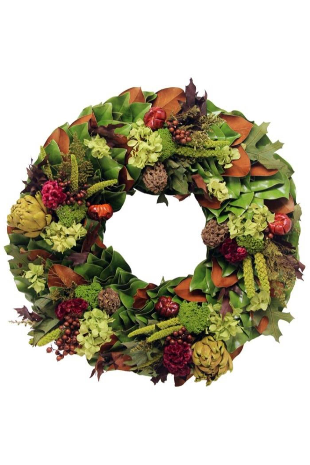 The magnolia company merlot valley wreath from westchester county by the magnolia company merlot valley wreath front cropped image mightylinksfo