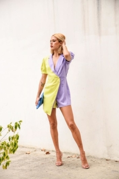 the moon Color Block Romper - Alternate List Image