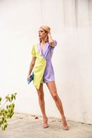 the moon Color Block Romper - Back cropped