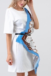 the moon Scarf Wrap Dress - Side cropped