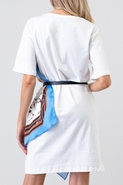 the moon Scarf Wrap Dress - Back cropped