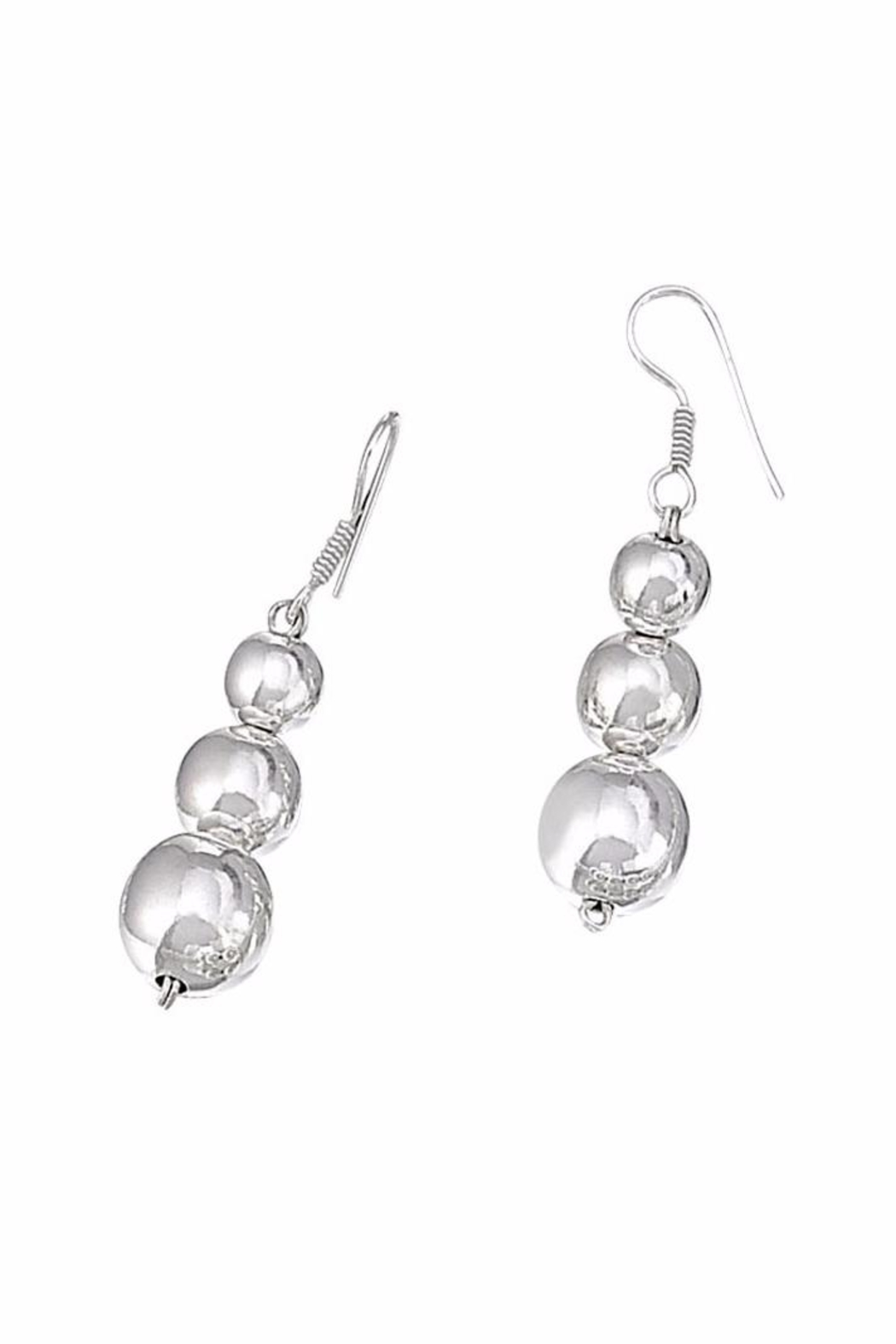 The Nava Family Graduated Ball Earrings - Front Cropped Image